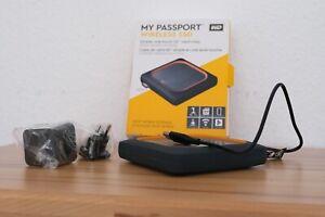 WD My Passport Wireless SSD Mobiler Wi-Fi - Speicher, 1TB - Grau/Orange (WDBAMJ0