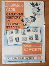 Canada Post Official Stamp Poster 1961 souvenir card - 363