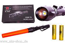 T6 Taschenlampe CREE LED Bailong BL-8668 Bis Lumen100.000 Lumen mit 2x8800mAh