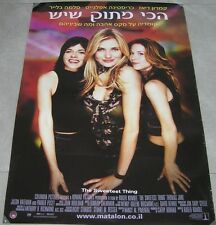 "THE SWEETEST THING Original Israel 2002 Movie Poster 27""X38"" CAMERON DIAZ"