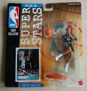 1998/99 TIM DUNCAN 5-inch Mattel NBA San Antonio Spurs figure NBA Super Stars