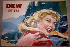 1954 ORIGINAL DKW RT175 AUTO UNION INGOLSTADT DÜSSELDORF 9,6PS MOTORRAD OLDTIMER