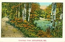 Annapolis,MD. A 1931 Country Road Greeting from Annapolis