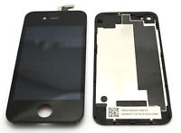 DISPLAY RETINA+VETRO TOUCH SCREEN+COVER PER APPLE IPHONE 4 POSTERIORE LCD NERO