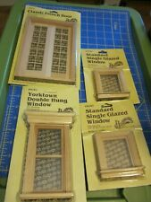 Houseworks Doll House -  3 Wood Windows & French Door , New Old Stock