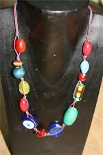 """NKUKU glass and wooden bead handcrafted necklace 9"""" NEW Ideal gift"""