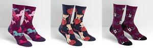 Sock It To Me Women's Crew Socks Unicorn / Kitten / Wine - Choose Design W