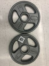 """Weider Set of 2 10LB Olympic Plates 20LB Total Weights iron 2"""" barbell dumbbell"""