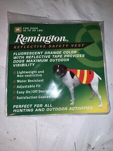 Remington Safety Vest for Dogs - Orange W/ Reflective Medium  (Dogs 18 - 50 lbs)