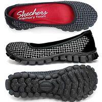 Skechers Ez Flex  Illuminate Casual Shoes Black Silver