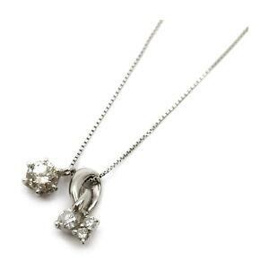 Jewelry Pendant Necklace   Diamond 0.2ct Platinum 410861
