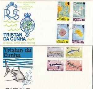 RR4201 Tristan Da Cunha 10 different First Day Covers  1969 - 1983