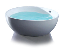 1500 X 1500 X 650 WIDE ROUND CURVED FREESTANDING ACRYLIC BATHTUB
