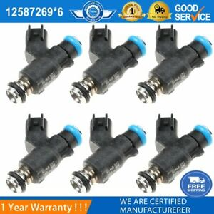 6PCS Fuel Injector 12587269 Fits For GM Chevrolet & GMC 2009 -2010 6.0L NEW