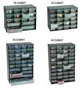 Multi Drawer Storage Cabinet Home Garage Nail Screw Jewelry Oraganizer Unit Rack