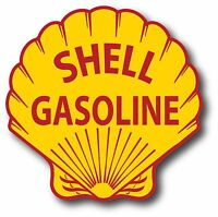 VINTAGE SHELL OIL GAS GASOLINE SUPER HIGH GLOSS OUTDOOR 4 INCH DECAL STICKER