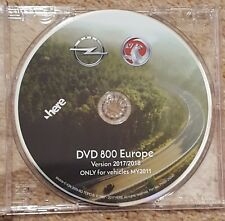 Latest 2017-2018 Vauxhall Opel DVD800&CD500 Sat Nav Disc Update DVD  UK&EUROPE