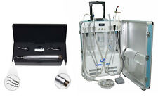 GU-P206 Portable Dental Unit With Air Compressor+ Air Scaler Sonic Hygienist New