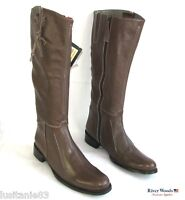 RIVER WOODS - BOTTES CAVALIERES TOUT CUIR MARRON 39 --> 40 - NEUF