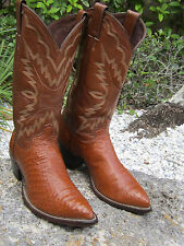 VERY RARE Vintage JUSTIN TEXAS TURKEY Boots Mens Exotic Size 8 1/2D MADE IN USA
