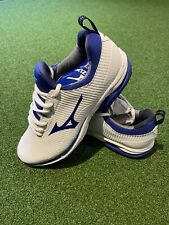 Mizuno Wave cadence Spikeless Golf Shoes Size 10.5 White/blue