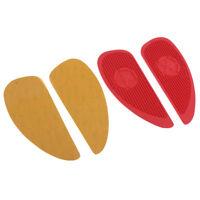 Protezioni laterali per ginocchiere serbatoio in gomma rossa per moto Harley