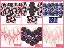 ECO Reusable Period Incontinence Pads Absorbent Panty Liners Starter Kit Set