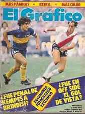 DIEGO MARADONA BOCA vs RIVER 1981 RARE MAGAZINE