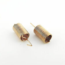 50pcs Copper 433MHz 50Ω Spring Antenna for Wireless Communication System 15mm
