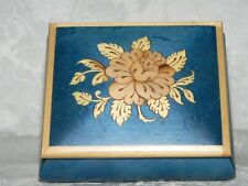 Lovely Italian Musical Jewelry/Ring Box-Hand Crafted Inlaid Natural Wood-Exclnt
