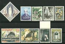 MONACO - 1958 - Centenario delle apparizioni di Lourdes