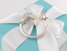 Neu Tiffany & Co Angeln Haken Schlüsselanhänger Keychain Box Inklusive