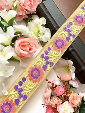 9 Yards Latest Indian Summer Floral Thread Embroidery Lace Trim Boarder