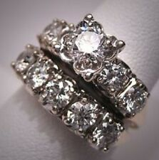 3.00 Ct Round White Stone 925 Sterling Silver Traditional Wedding Women Ring Set
