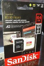 SanDisk Extreme 64GB Class 10 MicroSDXC Memory Card - SDSQXA2-064G-GN6MA
