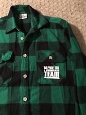 Michigan State University Alpine Ski & Snowboard Team Flannel Shirt Vintage MSU