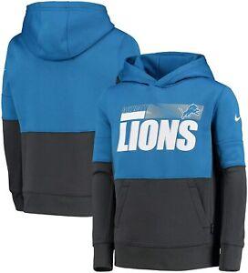 Detroit Lions Nike Youth Boys Performance Pullover Hoody Sweatshirt