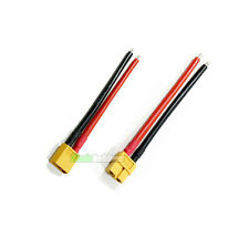 1 PAIR Of RC XT60 Lipo Battery Connector 10cm Wire Plane Boat Car Helicopter UK