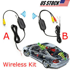 Wireless Transmitter & Receiver For Car Monitor Backup Rear View Parking Camera