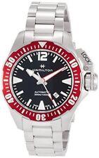 New Hamilton Khaki Navy Frogman Automatic Black Dial Men's Watch H77725135