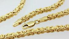585 echt Gold gelbgold Königskette vierkant Herren Halskette Damen Collier kette