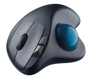 Brand New - Logitech - M570 Wireless Trackball Mouse - Gray/Blue - Free Shipping