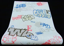 Grafitti Vlies Tapete Erismann 6797-10 679710 blau rot braun