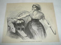 1880 magazine engraving ~ GIUSEPPINA, THE HEROINE OF SICILY