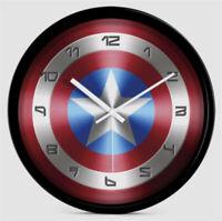 Marvel Avengers Captain America Shield Cosplay Wall Clock Creative Decor Gift