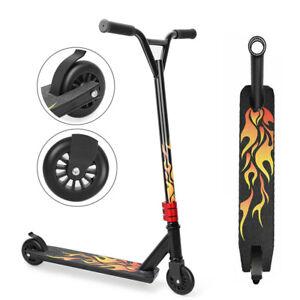 Outdoor Stunt Scooter Kids Adult Push Kick City Street Scooter 2 Wheels Fix Bar