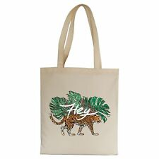 Hey illustration graphic design tote bag canvas shopping