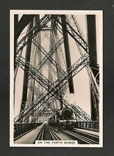 The FORTH BRIDGE being crossed by B1 1246 LORD BALFOUR of BURLEIGH 1938 original