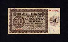 F.C. 50 PESETAS 1936 , SERIE A , MBC- , CON TODO SU APRESTO .