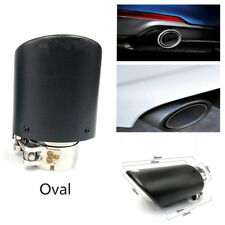 63mm / 89mm Oval (Steel+Real Carbon) Universal Car Exhaust Muffler Tip Matte